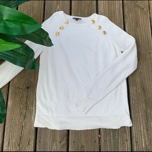🌸The Limited Sweater - Cream with Gold Buttons